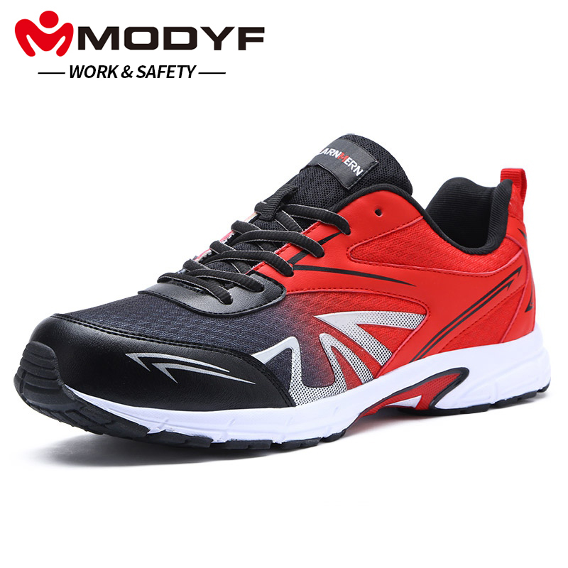 Modyf Males's Security Sneakers Work Metal Toe Anti-Sprains Boots Light-weight Breathable Sneaker Informal Footwear