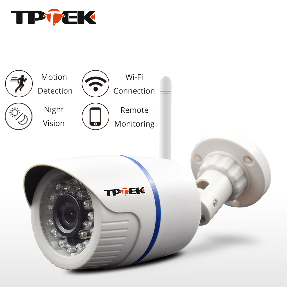 TPTEK HD 1080P IP Camera Outdoor WiFi Home Security Bullet