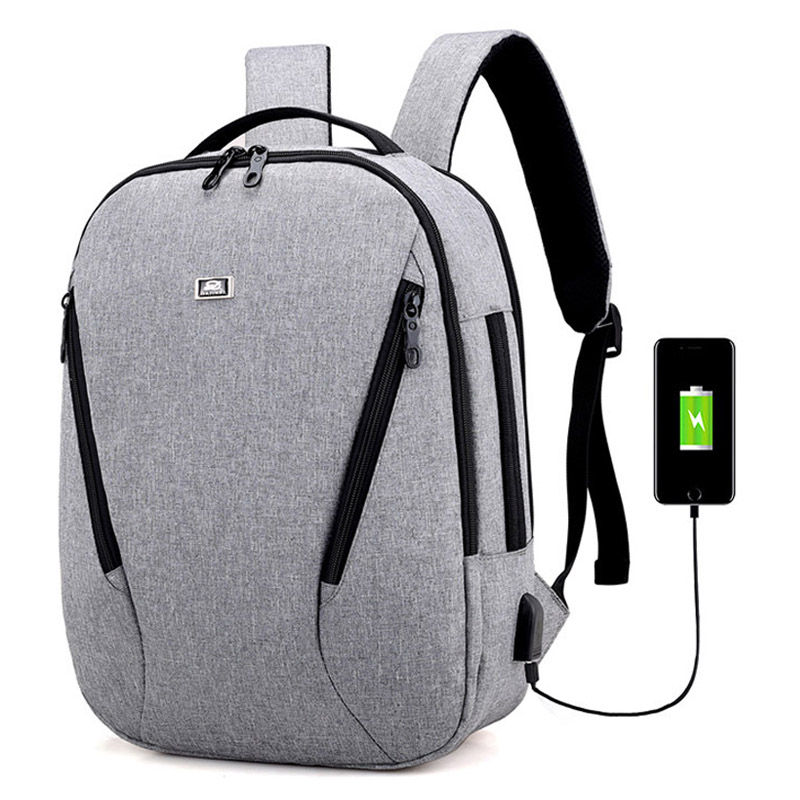 Hot Brand Nylon Backpack Men USB Charge Notebook Laptop Backpack Waterproof Fashion Male ...
