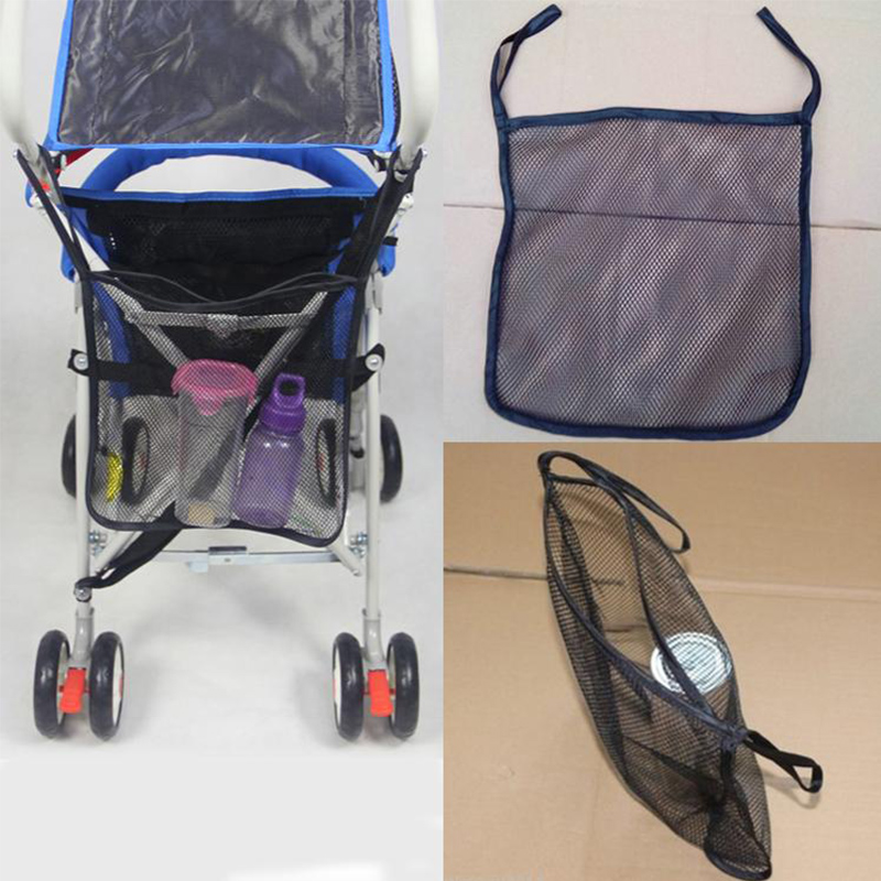 Baby Car Bag Stroller Accessories Magnetic Baby Stroller Organizer Mesh Hanging Storage Bag Free Shipping