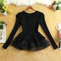 Оптовая девушки женщин вязать свитер платье леди девушки вязаный свитер марли пачка платье девушка модные свитера платья тюль