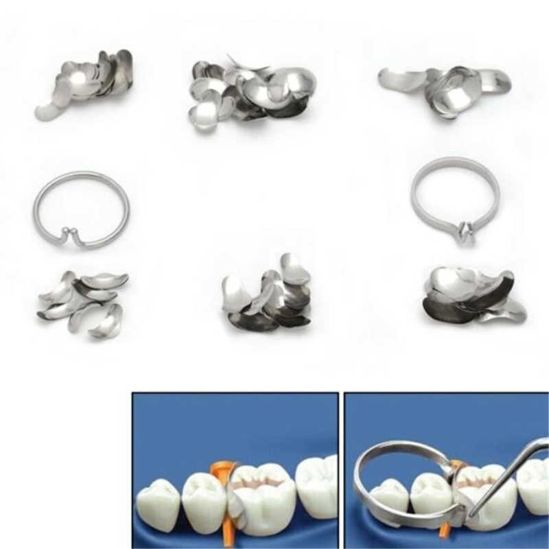 100 ชิ้น/เซ็ต Dental Matrix ฟันส่วนทรงกลม No.1.398 lmws 2 แหวนอุปกรณ์ทันตกรรม Lab ฟันเครื่องมือเปลี่ยน