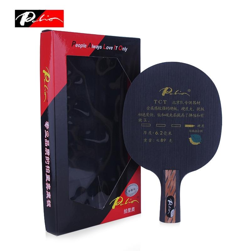 Palio TCT Tennis De Table Lame (9 Plis Carbone & Titane) Raquette Ping-Pong Bat Tenis De Mesa