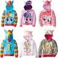 Filmes de desenhos animados pônei Crianças Meninas e meninos Casaco Meninas Bonitos das Crianças jaqueta Casaco, hoodies, meninas Jaqueta de Algodão crianças roupas