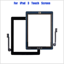 for iPad 3 3rd Gen A1416 A1430 A1403 Touch Screen Digitizer 9.7'' Front Glass Panel Screen Replacement for With Home Button
