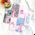 Новый Милый Мультфильм Полосатый Leopard Розовая Пантера Мягкие TPU Case Cover для iPhone 6 6 s 6 Plus 6 s Плюс розовый Животных телефон shell