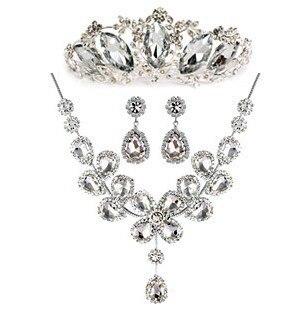 Pengiriman gratis! Berlian imitasi mewah mahkota Tiara ...