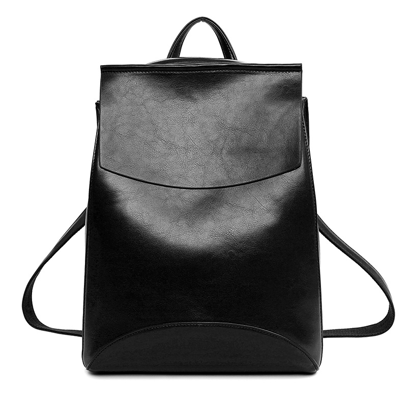 Hot Sale 2017 Women Fashion Backpack High Quality Pu Leather Backpacks for Teenage Girls Single Color School Shoulder Bag F747