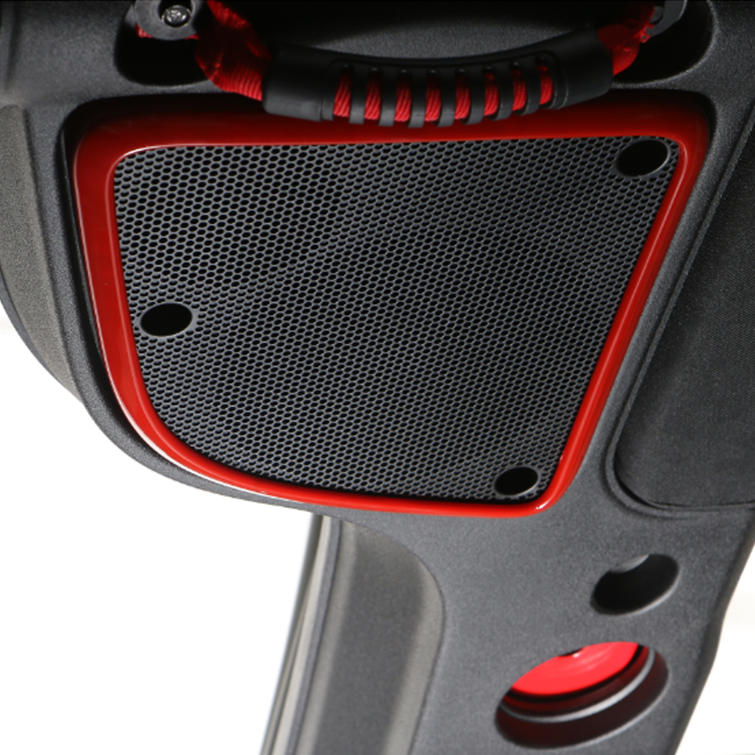 car interior top speaker box abs cover trim frame for jeep wrangler 2015 2016 ebay. Black Bedroom Furniture Sets. Home Design Ideas