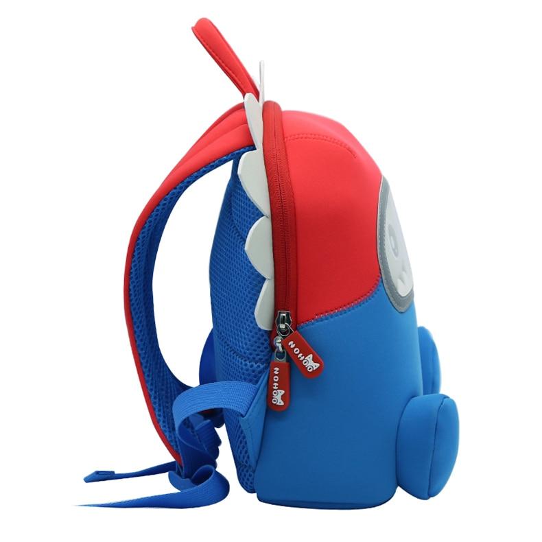 NOHOO Dinosaur Backpack For Boys Kids Toddler Child Neoprene Waterproof Cute Zoo 3D Cartoon Bag For Pre School Boys 2-6 Years