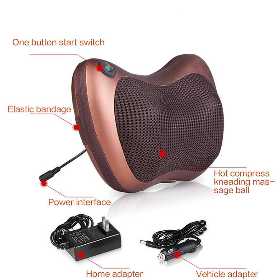 110/220V Massage Head Neck Massager Car Home Shiatsu Neck Relaxation Waist Body Electric Massage Deep-Kneading Pillow Cushion