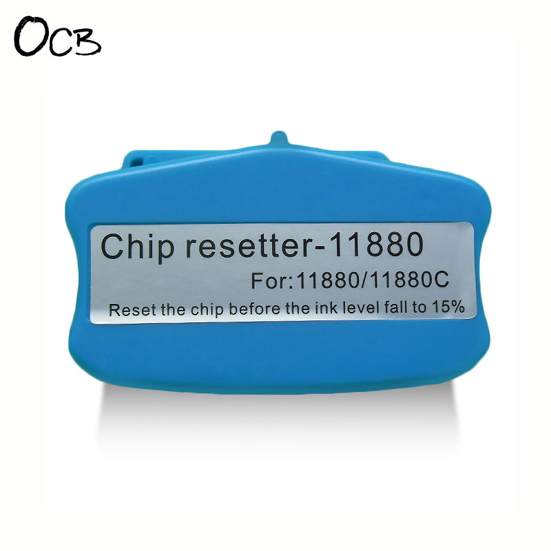 Cartridge Chip Resetter For Epson Stylus Pro 11880 Printer Chip Resetter Reset OEM Cartridge Chip 12k 45807111 laser toner reset chip for oki b432dn b512dn mb492dn mb562dnw eu printer refill cartridge