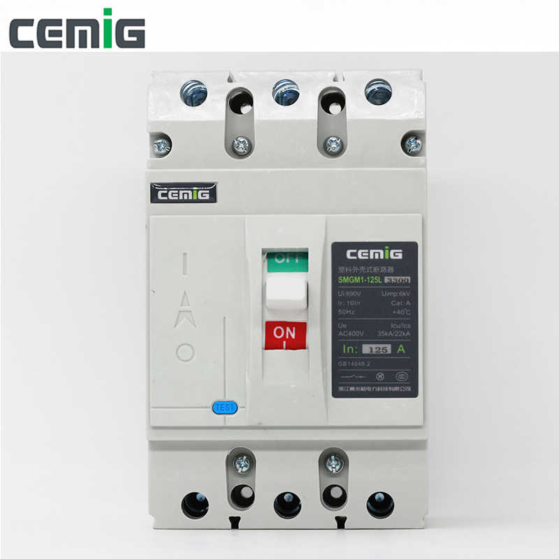 Cemig High quality moulded case Circuit Breaker molded case MCCB SMGM1-125L 50/60Hz 125A 3P
