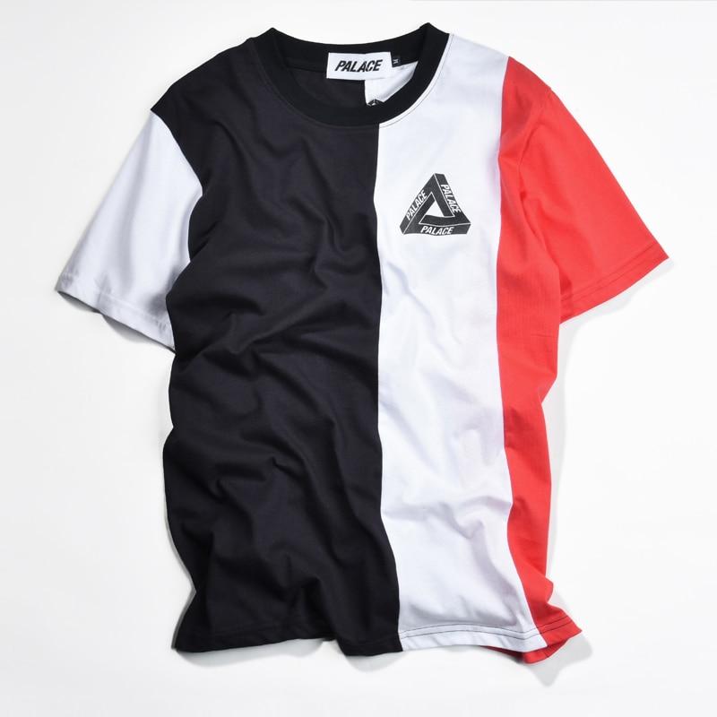 Palace T Shirt Men Hip Hop Fashion Skateboard VERTICAL TRI Ss