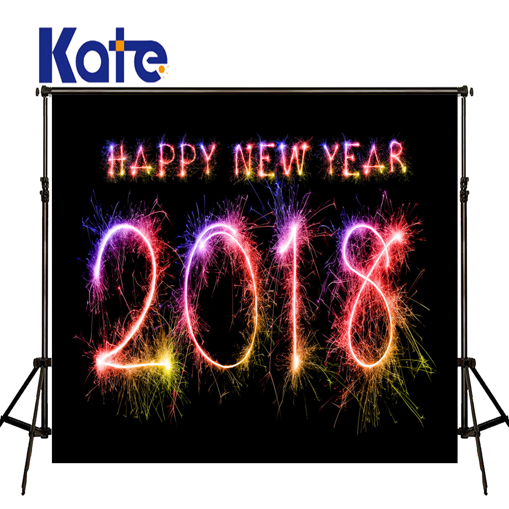 KATE Photography Background New Year Background Bright Firecracker Backdrop 20178 New Year Black Backdrops for Photo Studio
