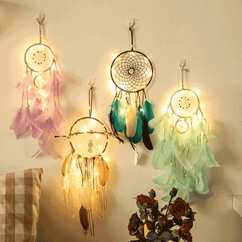 Dream Catcher Dreamcatcher 2 Meter 20LED Lighting Girl Room Bell Bedroom Romantic Hanging Decoration