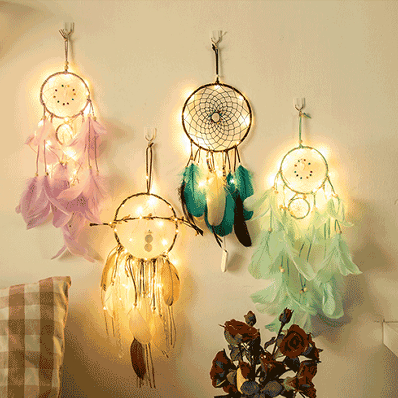 Dream Catcher Dreamcatcher 2 Meter 20LED Lighting Girl Room Bell Bedroom Romantic Hanging Decoration