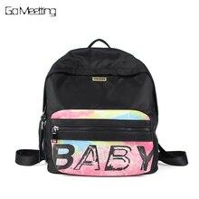 Go meetting женщины водонепроницаемый Оксфорд рюкзак известных дизайнеров Марка сумка для отдыха рюкзак для девочки и студент