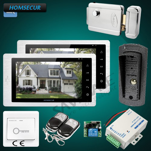 HOMSECUR 7 Wired Video&Audio Home Intercom+Sensor-Controlled IR Lights for Quality Night Vision ...