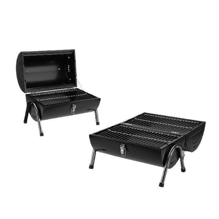 Portable Barrel Black Steel Table Top BBQ Garden Camping Picnic Charcoal  Grill On Aliexpress.com | Alibaba Group
