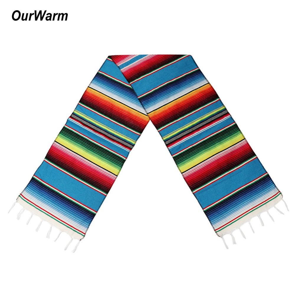 Us 7 35 45 Off Ourwarm Cotton Table Runner Mexican Party Decorations Table Runners For Wedding Fiesta Themed Party Supplies Home Textile In Table