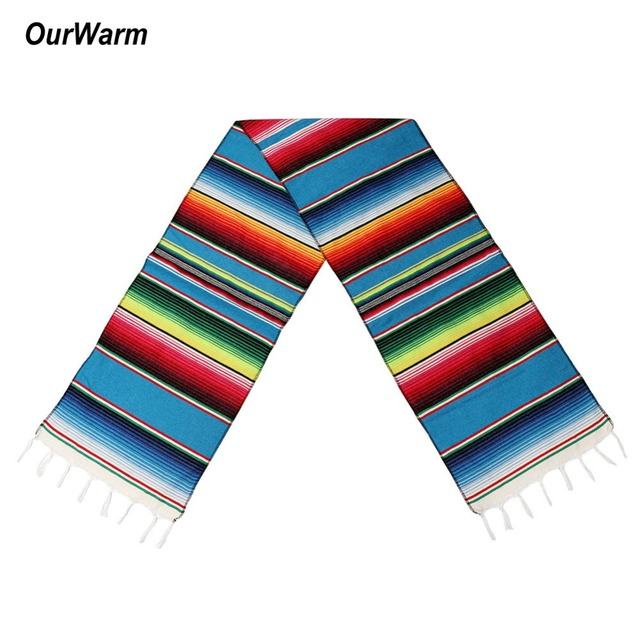 Ourwarm Cotton Table Runner Mexican Party Decorations Table Runners