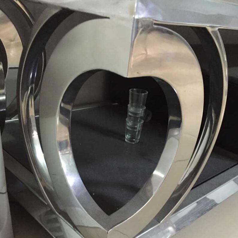 Stainless Steel Mirror Finish Coffee Table Leg Flower Pattern