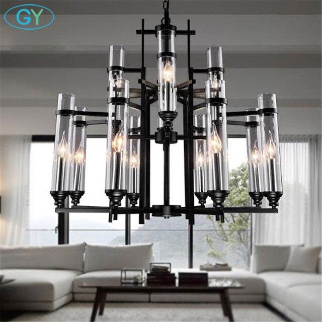 2018 New Modern LED pendant lights Lustre Candle luminaire Test tube glass Lampshade leds dinning room hanging lighting fixture