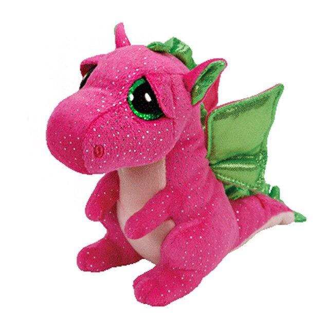 15cm 6inch Ty Beanie Boos Plush Toy Cute Pink Dinosaur