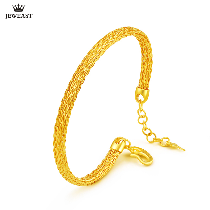 24K Pure Gold Bracelet Real 999 Solid Gold Bangle Women Adjustable Simple Fashion Trendy Classic Fine Jewelry Hot Sell New 2018 24k gold ring pure real pattern exquisite fine jewelry mini resizable design fashion female new hot sale 999 trendy party women