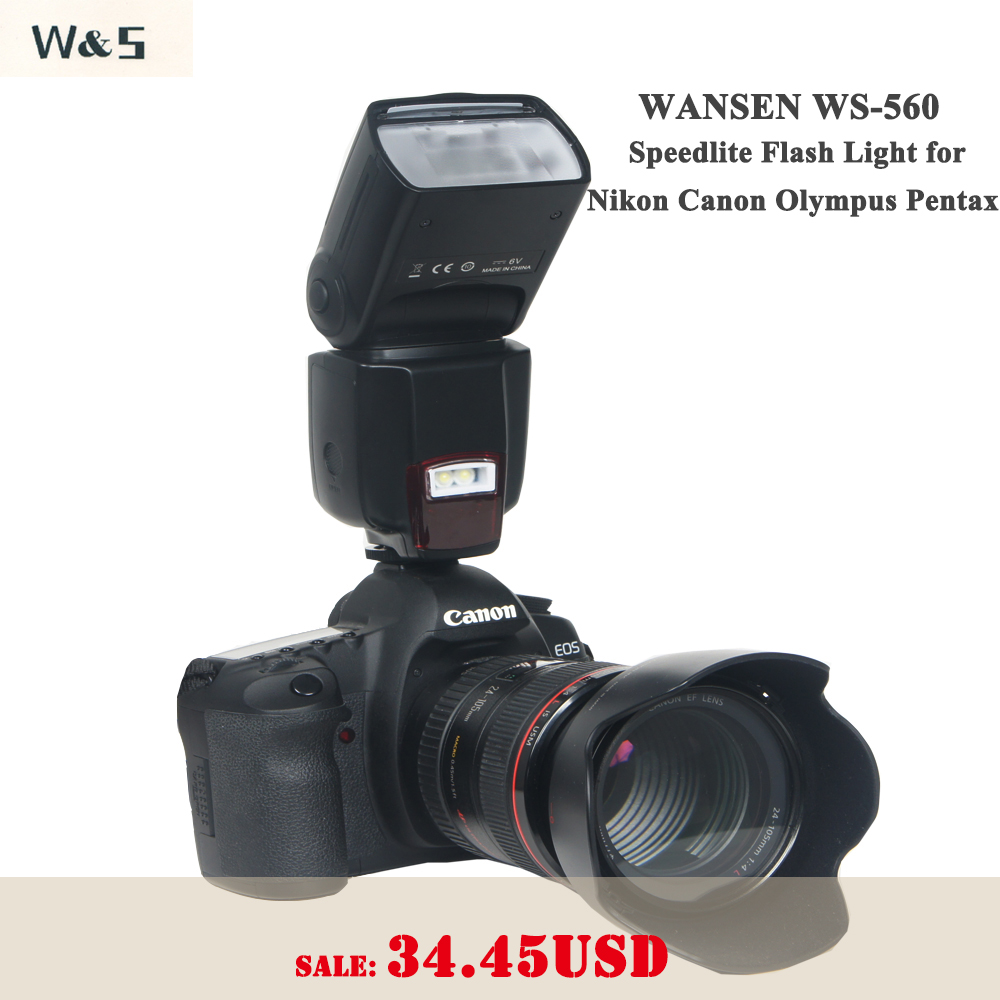 WANSEN WS-560 Universal Speedlite Flash אור עבור ניקון - מצלמה ותצלום
