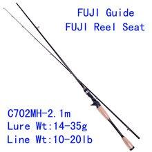 Tsurinoya PRO FLEX C702MH 2.1m MH Power Carbon Bait Casting Fishing Rod  Fuji Guide Reel Seat Lure Rod Pesca Tackles Cork Handle