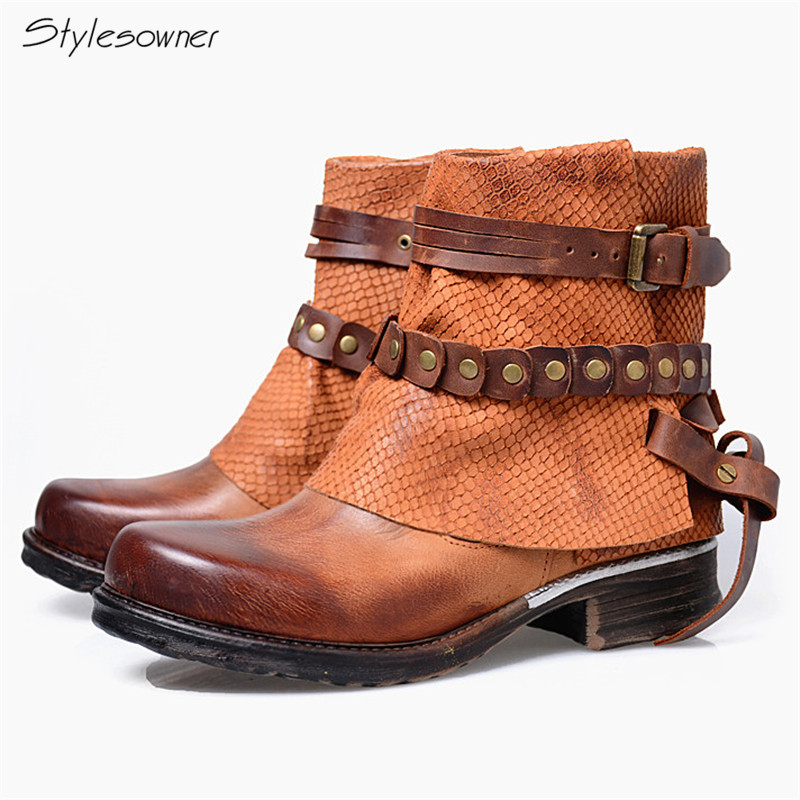 Stylesowner Fashion British Gladiator Do Old Martin Boots For Cool Girl Motorcycle Boots Shade Color Chain Neutral Ankle ShoesStylesowner Fashion British Gladiator Do Old Martin Boots For Cool Girl Motorcycle Boots Shade Color Chain Neutral Ankle Shoes