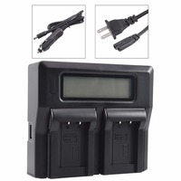 DSTE LCD81A Dual Battery Charger with USB Port for CASIO NP 70 Battery Exilim Zoom EX Z250 EX Z250BE EX Z150 Camera
