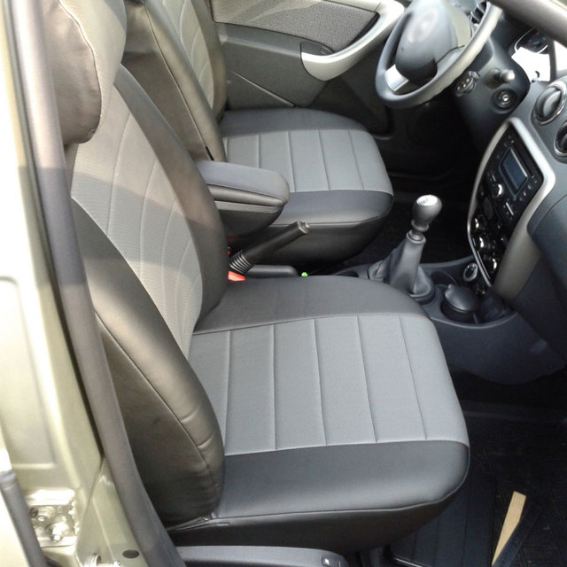 Для Renault Duster 2011-2014 специальные чехлы на сиденья полный комплект автопилот эко-кожа