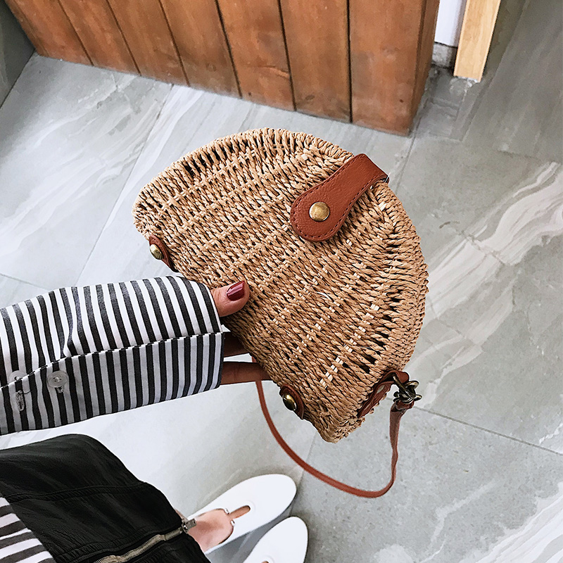 Gepäck & Taschen Benviched Damen Stroh Knödel Tasche 2019 Neue Frühjahr Mode Individualität Mini Woven Handtasche Geneigt Einzelnen Schulter Tasche C412 Den Speichel Auffrischen Und Bereichern Damentaschen