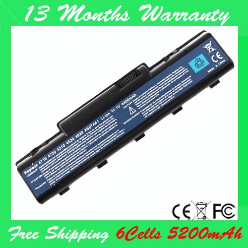 Special Price] New laptop battery  for Aspire 2930,2930G,2930Z, ,4710,4720,4920,AS07A31 AS07A41