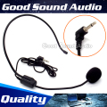 3.5mm Plug Wired Earhook Headworn Condenser Headset Microphone Headband Mic For Wireless Megaphone Computer Teaching Tour Guide