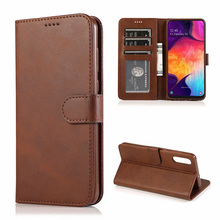 For Samsung Galaxy A50 Case High Quality Flip Leather Cases For Samsung Galaxy A50 Stand Case PU Leather Cover цена 2017