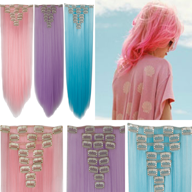 Pink Clip On Hair Extensions Choice Image Hair Extensions For