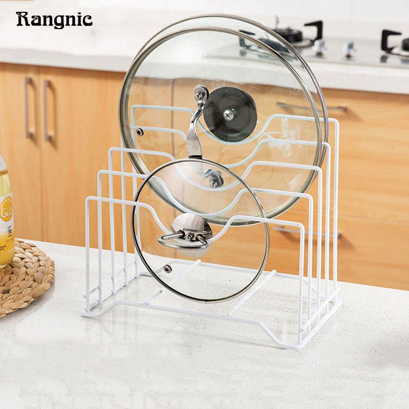 Kitchen Gadgets Spoon Rest Utensils Cabinet Storage Pan And Pot Lid Holder Rack 4 Tier Stainless