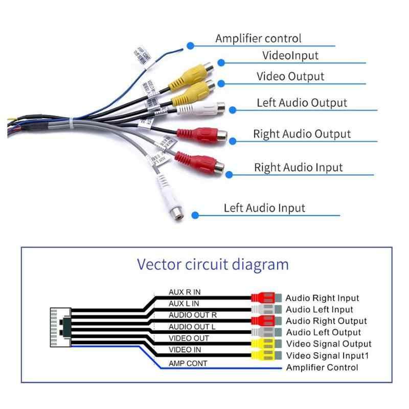 av headphone jack wiring diagram vodool 20pin plug to 6xrca 3 5mm female car stereo audio adapter  3 5mm female car stereo audio adapter
