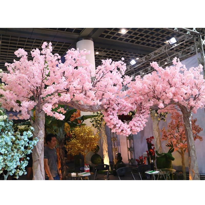 120 Heads Vertical Silk Artificial Cherry Blossom Valentines Day ...