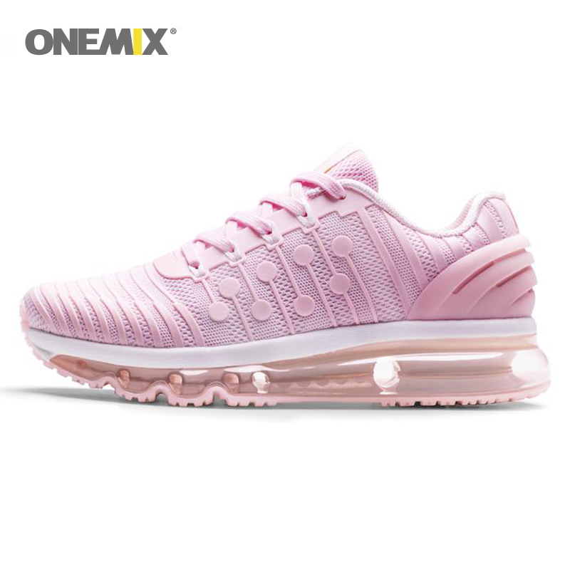 ONEMIX Running Shoe For Woman Nice Cushioning Breathable Women Pink Trend Trainers Zapatillas Sport Outdoor Athletic Shoes