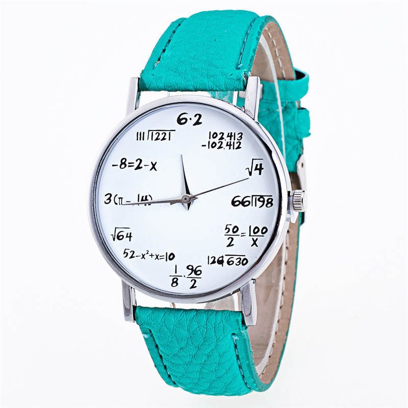 Fashion Girls Ladies Math Pattern Watch Women Leather Band Analog Quartz Wrist Watch Vogue Cheap Bracelet Watches relogio подвесной светильник favourite magrib 1214 3p1