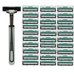 1/30 шт 2 слоя качества бритвенный станок Безопасные лезвия для бритв руководство для бритья Бритва Уход за лицом бороды для удаления волос