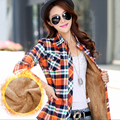 New Women's Winter Blouses Casual Long Sleeve Plaid Flannel Shirt Flannel Tops Warm Blusa Femininas M L XL XXL blouses feminina