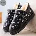 Impermeables botas de nieve de las mujeres 2017 al aire libre espesar felpa corta caliente tobillo boot winte casual zapatos de mujer Botas de neve femininas