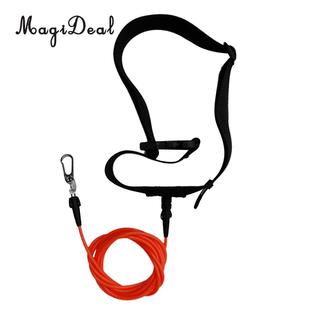 MagiDeal Adjustable 1Pc Swimming Leash Stationary Cord Swim Pool Hip Belt Training Tether for Kayak Canoe Boat Diving Accessory