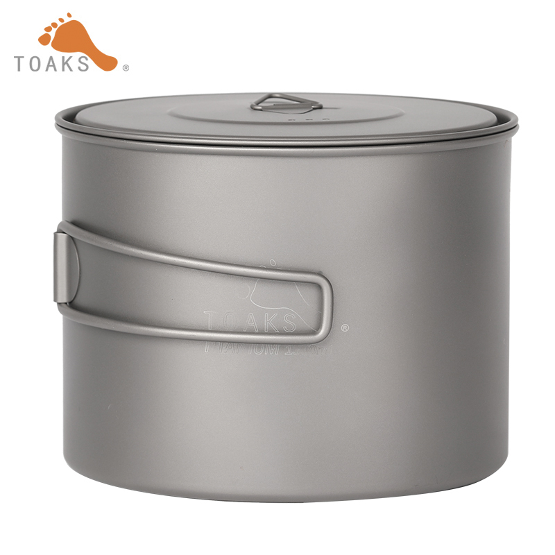 TOAKS Ultralight Outdoor Camping Titanium Pot Cooking Pot Titamium Cookware Sets POT-1300